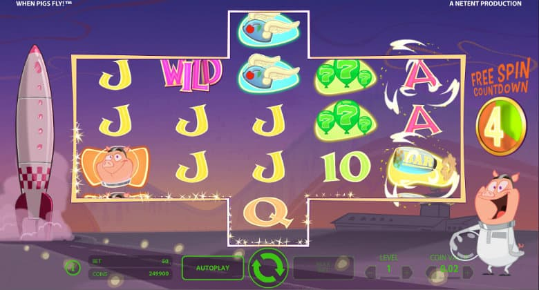when pigs fly slots review