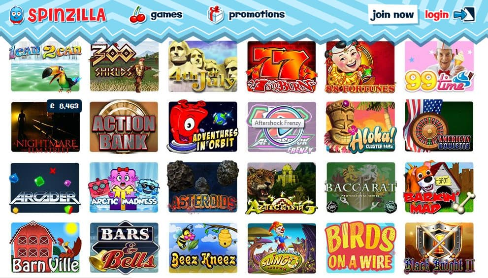 spinzilla mobile casino