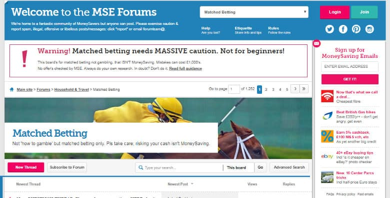 best matched betting forums